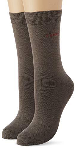 Esprit Damen Uni 2-Pack W SO Hausschuh-Socken, Grün (Thyme 7821), 39-42 (2er Pack)