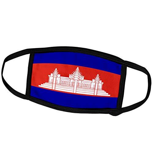 3dRose fm_31539_2 Face Mask Medium Gesichtsmaske, Polyester, Kambodscha-Flagge