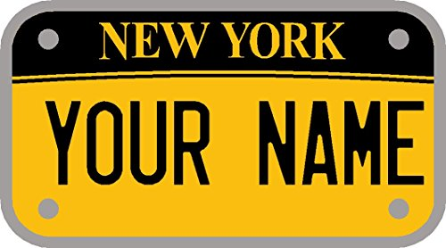 Ellis Graphix New York Personalised Self-Adhesive 90 x 50 mm Childrens Kids Number Plate Sticker to fit Cozy Coupe