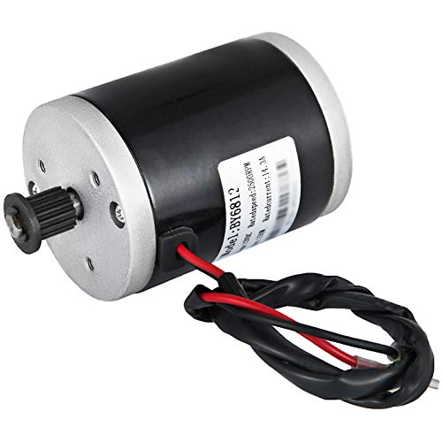 Happybuy 12V Electric Motor 150W DC Motor 2500 RPM Rated Speed Brushed Motor with 3M-16T Transmission Belt Pulley
