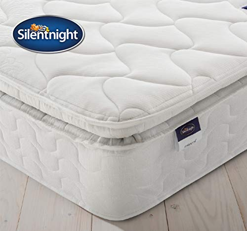 Silentnight Pillowtop Mattress | Zoned Spring System | Eco Comfort Cushioning | Quilted Cover | Medium Firm | Single