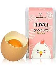 Rinaldini Huevo De Pascua de Chocolate Blanco con Cáscara De Verdad Esterilizada | Lote De 9 Huevos