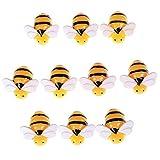 100 piezas de respaldo plano de resina cabujón abeja DIY Flatback Scrapbooking adornos artesanía