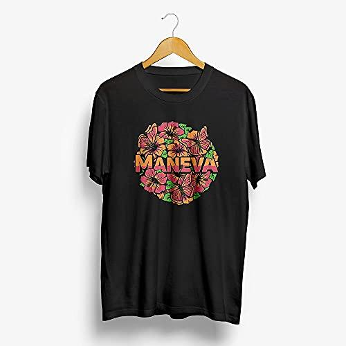 Camiseta Maneva - Tudo Vira Reggae - Flores M | Preta