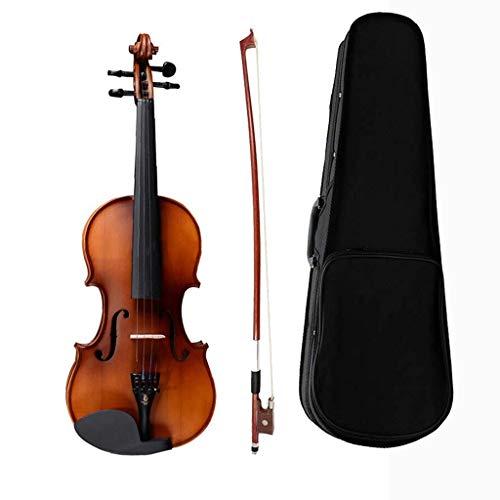 Violines Madera Maciza de Abeto Principiantes avanzados con Instrumentos de Cuerda con Arcos Accesorios de Madera Maciza Regalos Bolsa de Entrega (Color : Red, Size : 3/4)