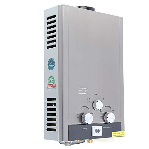 Stoge 8L Erdgas-Warmwasserbereiter Durchlauferhitzer Warmwasserbereiter Methan-Schnellkessel 2GPM Edelstahl