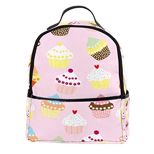 ATOMO Casual Mini Backpack Cute Cupcakes PU Leather Travel Shopping Bags Daypacks