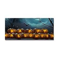 屋内屋外用ハロウィンかぼちゃマット玄関マットエントリカーペットデコレーションマットキッチンの床玄関マット、党恐ろしいマット装飾、50 * 80センチメートル。 B-50*80CM