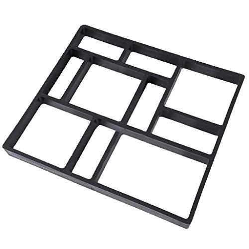 Pflasterstein Schalungsform Betonformen Gehwegplatte, Wiederverwendbar - 45x40x4cm