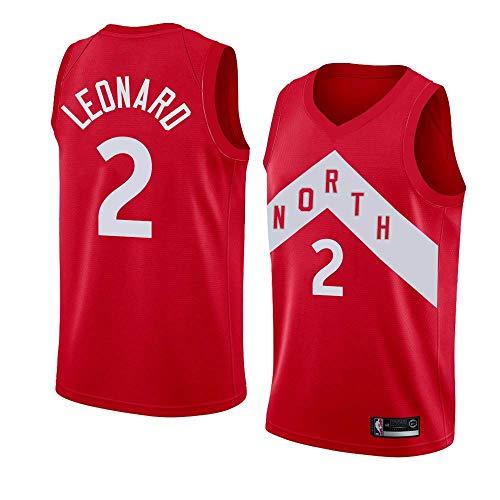 canottejerseyNBA Kawhi Leonard - Toronto Raptors #2 Jersey Maglia Canotta, Stile di Abbigliamento Sportivo Palestra (L, Rosso City Edition '19)
