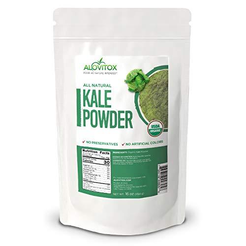 Alovitox USDA Certified, Organic Kale Powder, All Natural, Non-GMO, Gluten Free - 16 oz