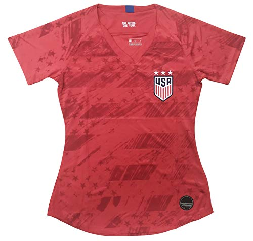 New 2020 Women's USA Away National Team Jersey (Large) Red