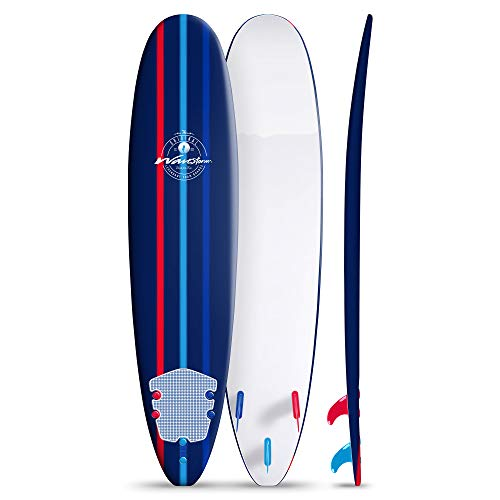 Wavestorm 8ft Classic Longboard Surfboard (Navy)