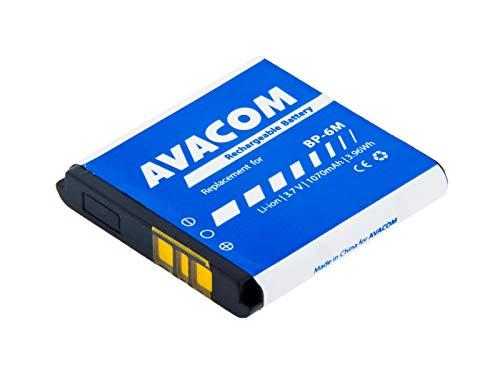 Batteria per cellulare Nokia 6233, 9300, N73 Li-Ion 3, 7 V, 1070 mAh (ricambio BP-6 m)