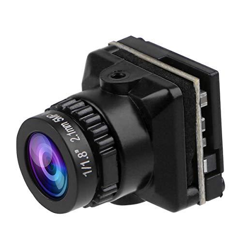 Cámara 1500TVL Mini CAM FPV Lente FOV de 2.1 mm Lente D-WDR PAL/NTSC de 135 Grados y OSD conmutable 4: 3/16: 9 para Racing Drone Negro