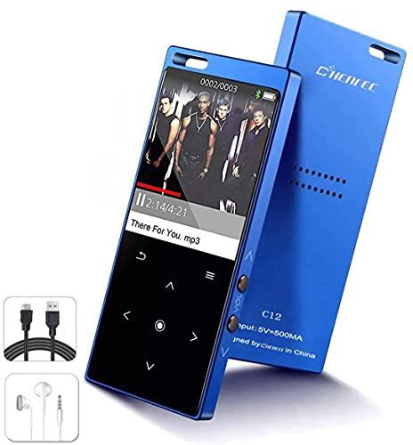 Reproductor de MP3 portátil con Bluetooth, 16 G de música Hi-Fi sin...