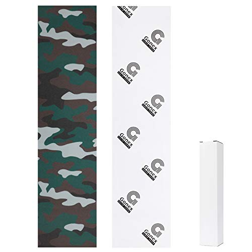 Gonex 44 x 10 1/4 Inch Skateboard Grip Tape Sheet, Bubble Free Scooter Griptape Sandpaper with Multiple Colors for Skate Longboard Rollerboard Stairs Pedal, Camouflage