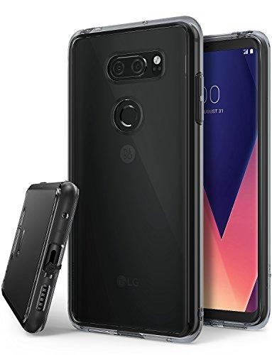 Ringke LG V30, LG V30 Plus, LG V30S ThinQ Hülle, Fusion Hülle PC TPU Bumper Handyhülle Schock Absorbtions Technologie für LG V 30, V 30 Plus, V 30 S ThinQ Panzer Cover - Smoke Black