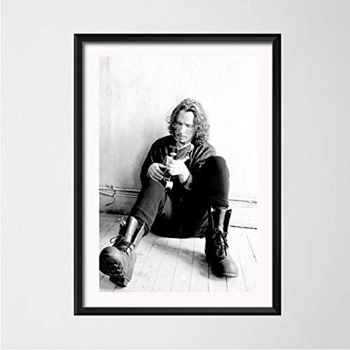 PCCASEWIND Chris Cornell Rockmusik Star Sänger Kunst Malerei Leinwand Wandposter Home Decor(Rahmenlos 50X70Cm) E-822