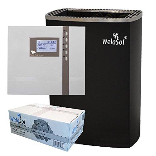 WelaSol Saunaofenset WelsaSol M 9 kW Saunaofen Wandmodell mit D2 Steuerung