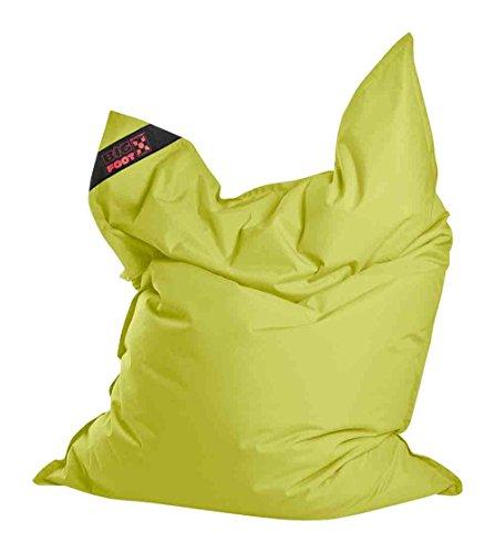 lifestyle4living Jumbo-Sitzsack, Sitzsack, Sitzkissen, Bodenkissen, Relaxkissen, Relaxsack, Bodensessel, Sitting Bag, Kindersitzsack, Grün, Maße: B/H ca. 130/170 cm