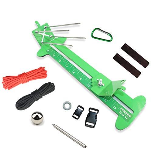 PSKOOK Paracord Jig Monkey Fist Jig Armband Maker Paracord Tool Kit Einstellbare Länge Metall Weben DIY Craft Maker Werkzeug Knüpfhilfe für Paracord Seile zur Herstellung von Armband Halsband