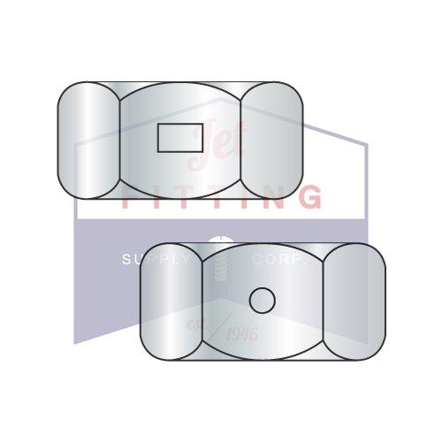 3 4-10 Two Way Ranking TOP17 Reversible Hex Steel San Jose Mall Locknuts Quantity: 100 Zinc