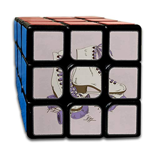Custom 3x3 Speed Cube 3x3x3 Best Brain Training Toys 3x3x3 Sports Roller Skate Shoes 3D Puzzles Toys Party Game for Boys Girls Kids Toddlers-55mm