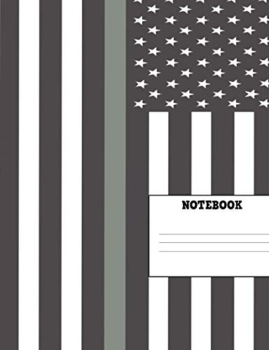 Notebook: Thin Gray Line Composition Book 7.44