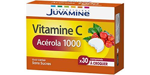 JUVAMINE - Vitamine C Acérola 1000mg - 30 Comprimés à croquer