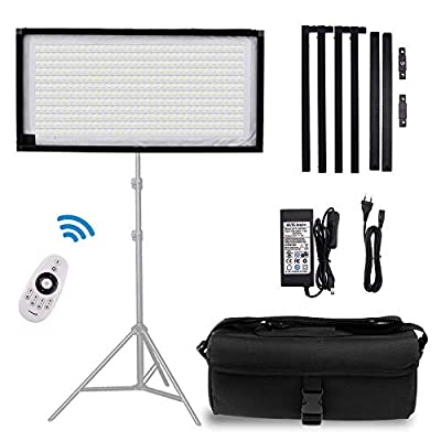 FOSITAN FL-3060 2nd Gen Portable Rollable 30x60cm Flexible LED Light Panel Mat on Fabric Daylight 5000K 48W 8000LM 384 SMD LED 90 CRI+ for Traveling filmmakers Videographers Photography Shooting