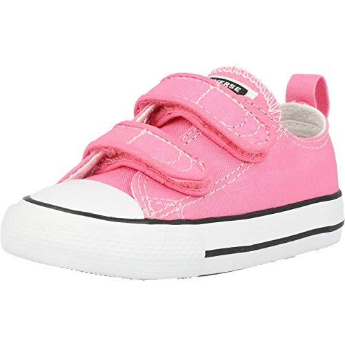 Converse CT 2V OX Chucks Pink Mädchen Baby Sneaker Klett Canvas pink 709447C, Schuhgröße:21 EU