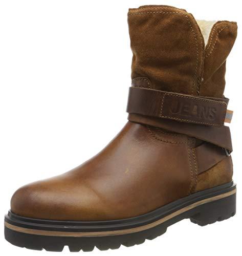 Tommy Hilfiger Damen Reflective Detail Biker Boot Stiefeletten, Braun (Winter Cognac Gvi), 37 EU