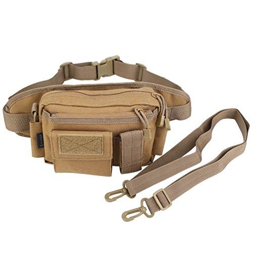 OLEADER Taktische Taille Pack Military Fanny Packs Hüftgürtel Tasche Beutel Werkzeug Organizer für Outdoor Wandern Klettern Angeln Jagd Bum Bag (Wüste digital) (Khaki)