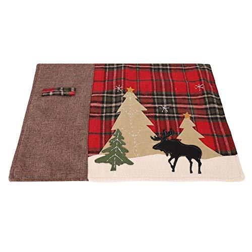 Conveniente alfombra de aislamiento de calor, apliques de tela colocar el cuchillo y tenedor resistente a las manchas de tela tela de aislamiento térmico hecho