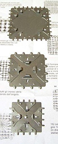 TELAIO Quadrato in Metallo 3 misure per orecchini telaietto lavorare lana a mano