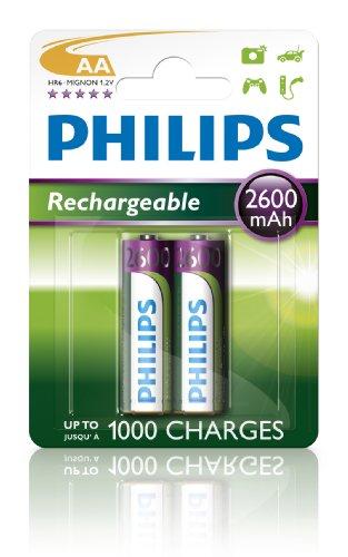 Philips Multi Life NiMH Akku AA Mignon 2600 mAh 2er Pack