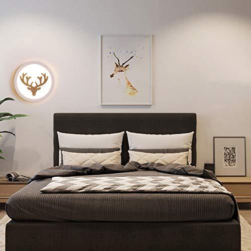 DKee Luz de pared Sala De Toro Frente Del Modelo Dormitorio De Noche LED Redonda Lámpara De Pared Del Hogar Creativo De Estar Pasillo Pasillo Luz Decorativa (18 * 4 * 18 Cm)