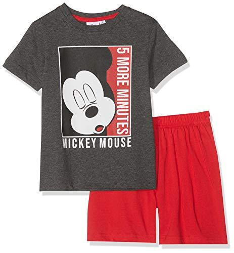 Disney Mickey Jungen 5773 Zweiteiliger Schlafanzug, Grau, 98
