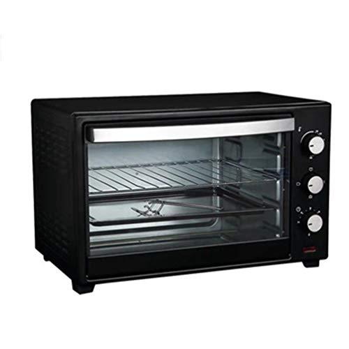 FUDIV Multifunktions-Elektroherd Backen Kuchen Brot Süßkartoffel Pizza Mini-Backofen unabhängig die Temperatur Schwarz 1360 Watt