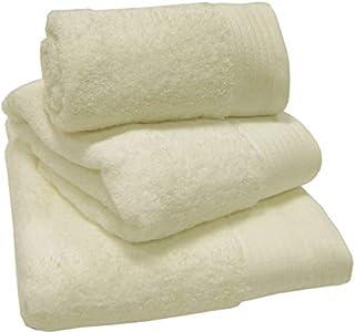 Home Essentials Soft Crystal White Cotton 3 Pieces Towel Set -White