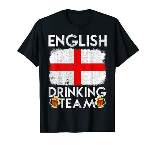 Equipo de Bebida Inglés Diseño Inglaterra Beber Equipo Camiseta
