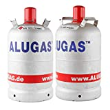 Alugas 2X 11 Kg Propangasflasche, Gasflasche für Camping NEU leer