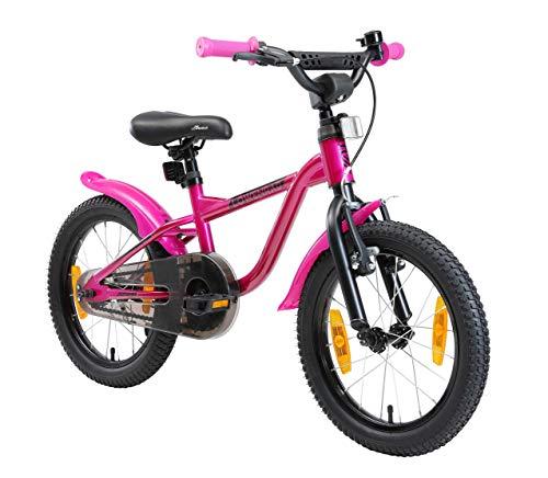 LÖWENRAD Kinderfahrrad für Jungen und Mädchen ab 4-5 Jahre | 16 Zoll Kinderrad mit Bremse | Fahrrad für Kinder | Berry