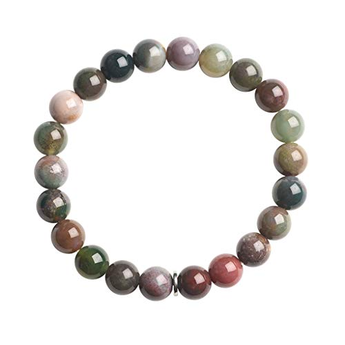 hongbanlemp Pulseras para mujer, pulsera de ágata colorida para mujer, joyería de la suerte, para hombres y mujeres/regalos de cumpleaños para amigos (dos tamaños) pulsera joyería (tamaño: A)