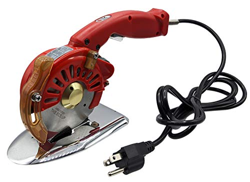 Hercules HRK-100 5-Speed Corded Electric Rotary Cutter for Cloth, Leather, Natural and Synthetic Fabrics – Single & Multi-Layer – 110 Volt AC Round Knife Cutting Machine – 4-Inch Round Blade