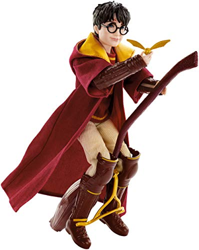 Harry Potter Poupée articulée Quidditch de 27cm avec Balai Nimbus 2000 et vif d'or, à collectionner, jouet enfant, GDJ70