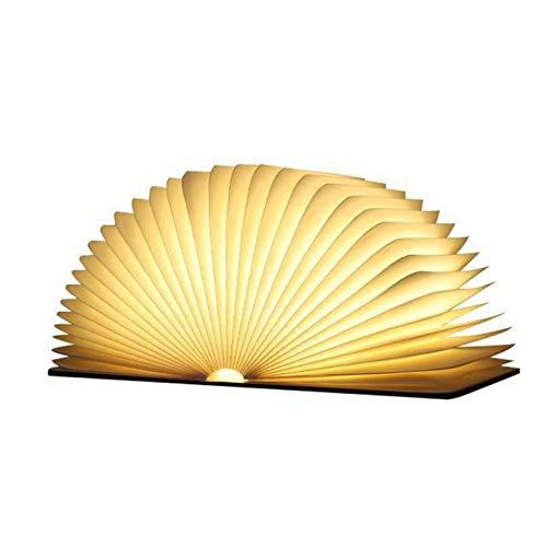 Lámparas de Mesa Creativa magnética plegable luz del libro de madera del...