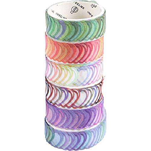 buycheapDG(JP) ハートステッカー 紙 シール 14 クラフト 封筒シール ハート型 付箋 感謝 シンプル 6ロール ロールシール 贈り物 ギフトシール 粘着紙テープ ラベル ラッピング diy mm