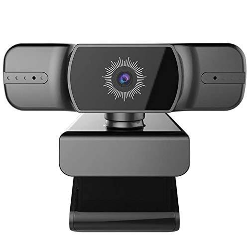 Full HD Webcam 1080P, Autofocus Met 2 Ingebouwde Radio Microfoons, Groothoek, Automatische Installatie Voor Op Afstand Werken, Game Streamer, Video Conferencing